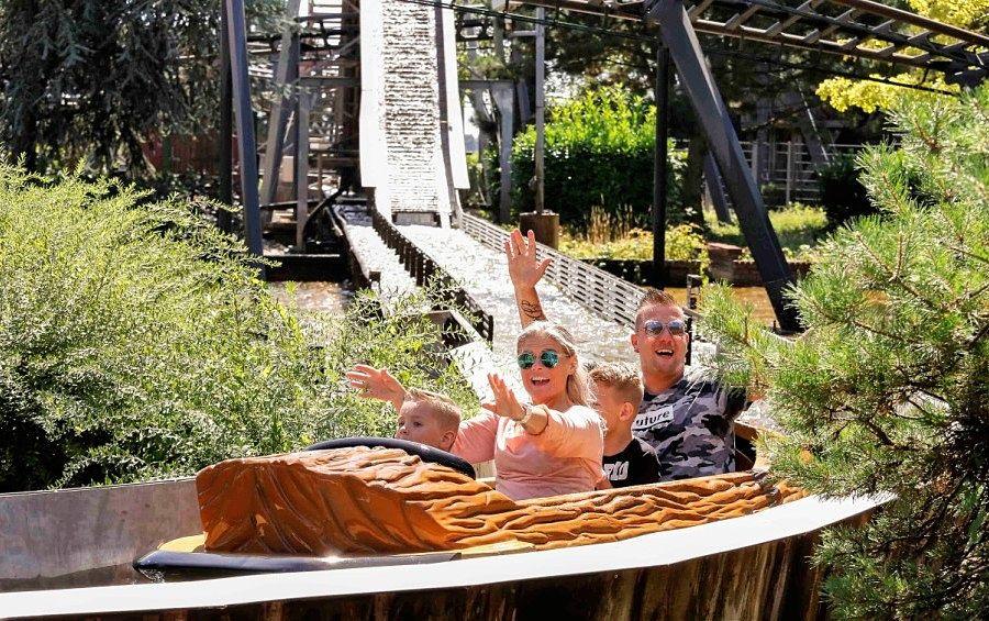 Wildwaterbaan in Kernie's Familiepark in Wunderland Kalkar