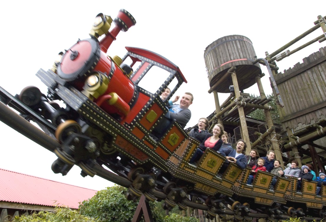 Mine Train in Alton Towers