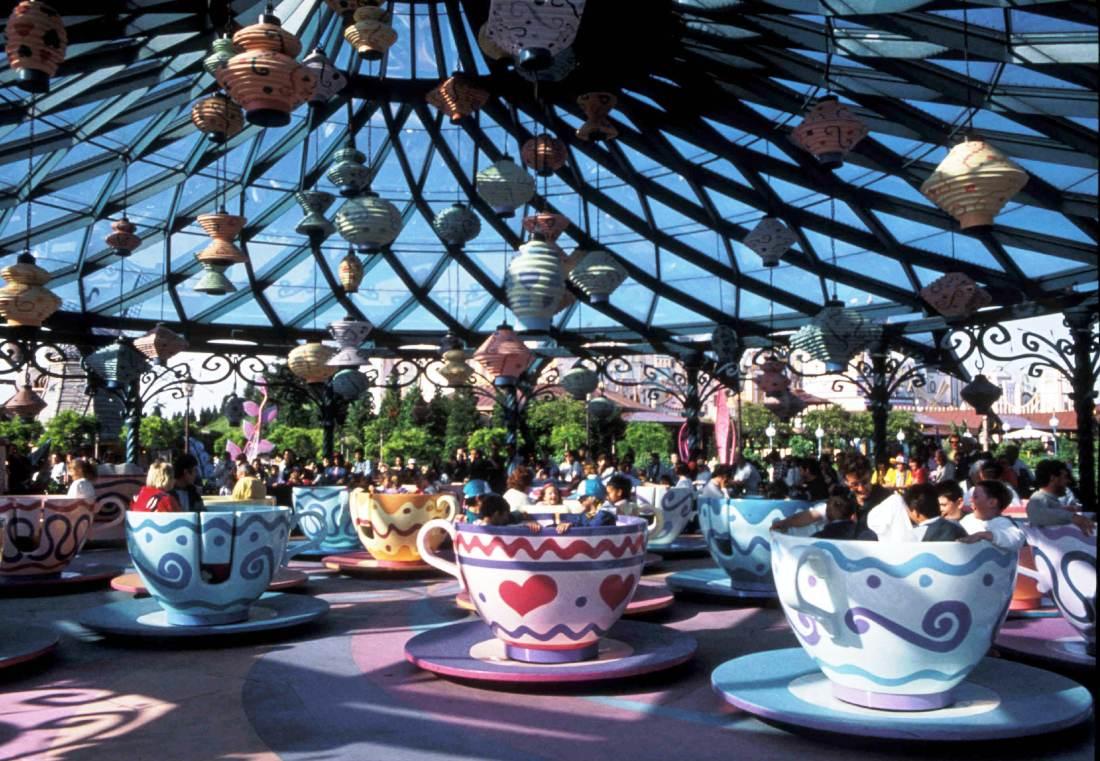 Mat Hatter Tea Cups in Disneyland Paris