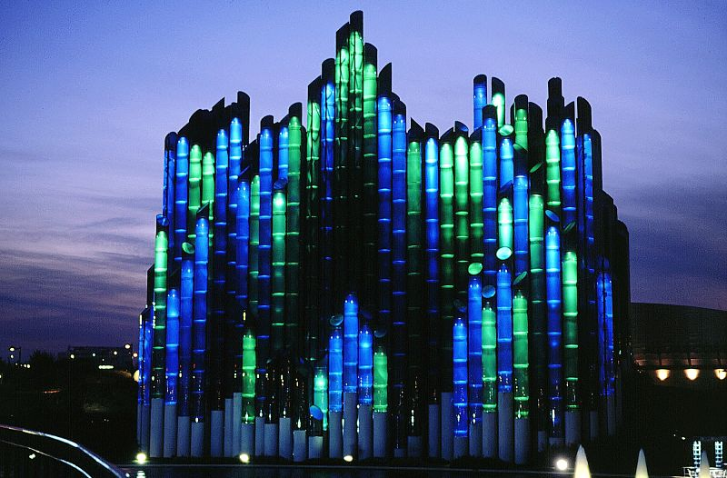 Het gebouw van L'Extraordinaire Voyage in Futuroscope - Foto: © Futuroscope/M. Vimenet