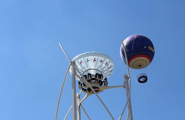 Aérobar en luchtballon in Parc du Petit Prince - Foto: Blogueurs d'Alsace