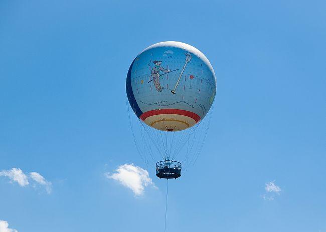Luchtballon in Parc du Petit Prince - Foto: Michel Caumes