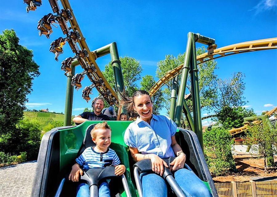 De achtbanen Volldampf en Hals-über-Kopf in Erlebnispark Tripsdrill