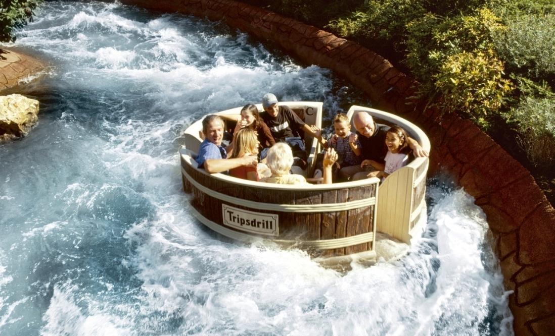 Waschzuber Rafting in Erlebnispark Tripsdrill