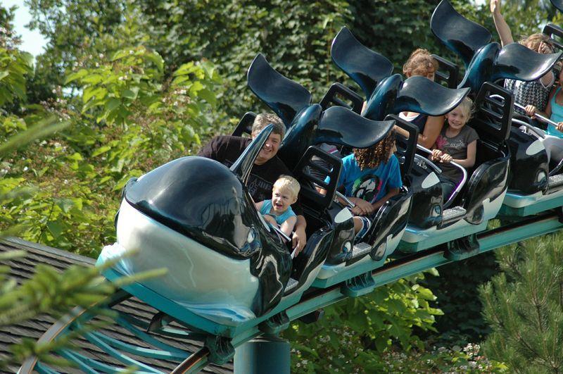 Orka-achtbaan in Boudewijn Seapark