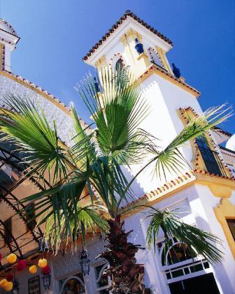 Spaanse gebouwen in het Europa-Park