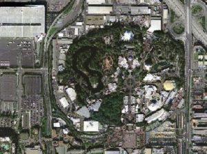 Luchtfoto Disneyland Anaheim