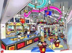 Concept voor Mickey's T-Shirt Factory