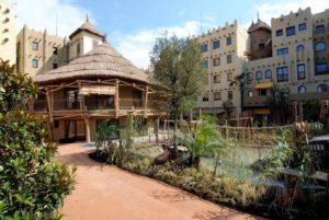 Hotel Matamba vanuit de tuin gezien
