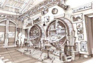 Blue Sky Cellar - Concept sketch: Disney