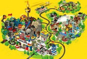 Een kaart van het nieuwe Legoland Billund Resort