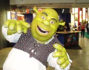 Shrek bij de stand van Movie Park Germany op de Vakantiebeurs - Foto: (c) 2009 Parkplanet
