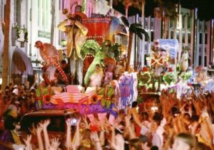 Mardi Gras-parade in Universal Studios Orlando