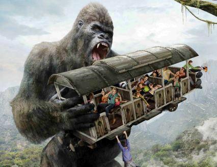 Artist impression van King Kong in Bobbejaanland