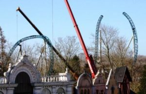 De bouw van Anubis The Ride ligt goed op schema - Foto: Plopsa