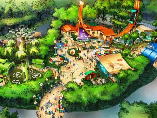 Toy Story Playland in Walt Disney Studios - Illustratie: (c) Disney