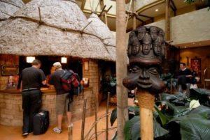 De receptie van hotel Matamba in Phantasialand
