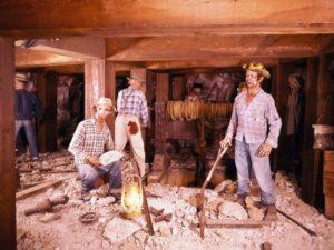 Calico Mine Ride in Knott's Berry Farm in 1960 - Foto: Orange County Archives