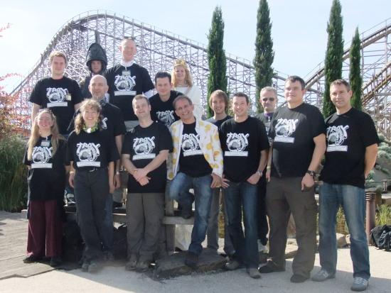 De deelnemers aan de Coaster Challenge - Foto: (c) Parkplanet