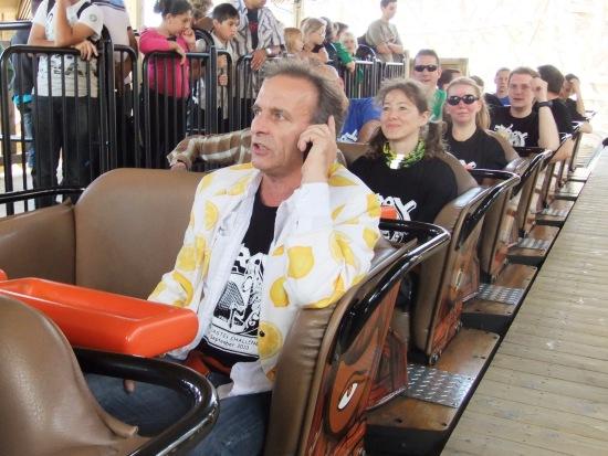 Johan Vlemmix werkt aan zijn eigen PR tijdens de Coaster Challenge - Foto: (c) Parkplanet