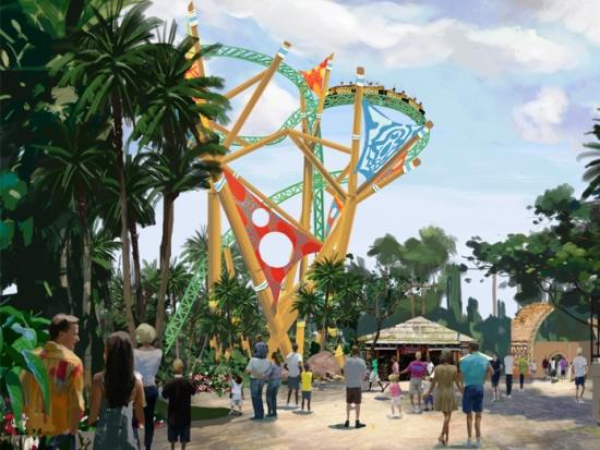 De nieuwe achtbaan Cheetah Hunt in Busch Gardens Africa