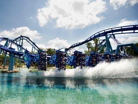 Achtbaan Manta in SeaWorld Orlando