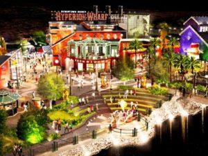 Schets van de nieuwe Hyperion Wharf - Artist impression: Disney