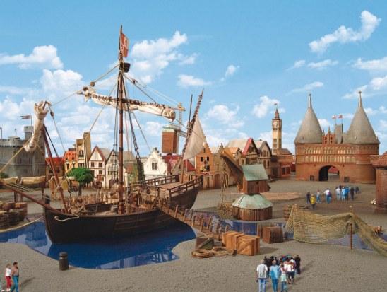 Het project 'Hanse in Europa'- Artist impression: Hansa-Park