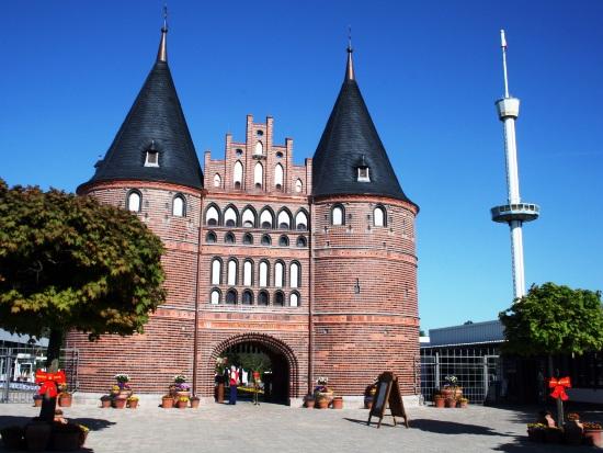 De Holstentor in het Hansa-Park