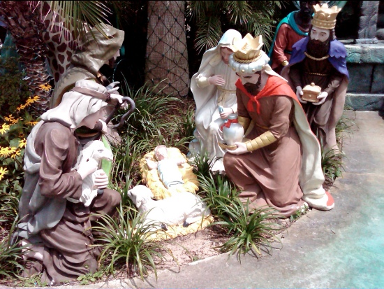 Kerststal in The Holy Experience in Florida