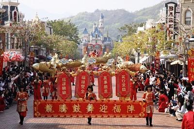 Chinees feest in Disneyland Hong Kong - Foto: (c) Disney