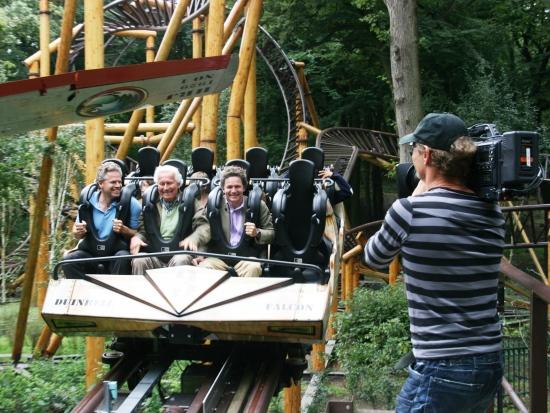 Opnames voor een televisieprogramma in Duinrell - Foto: Omroep Max