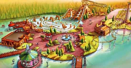 Ontwerp van Jora Vision voor het Land of Legends in Adventure World Warsaw