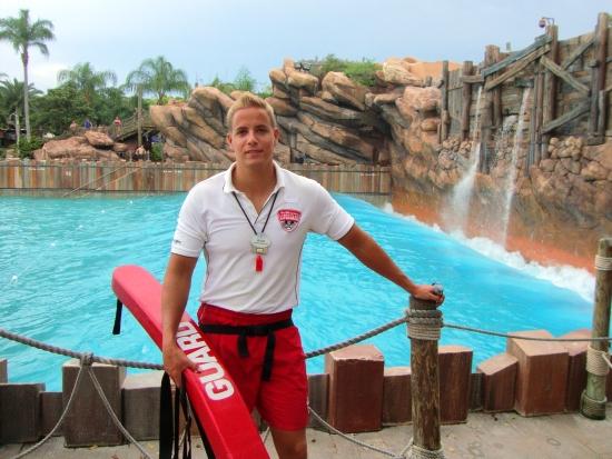 Peter van Holsteijn, lifeguard in Typhoon Lagoon in Walt Disney World