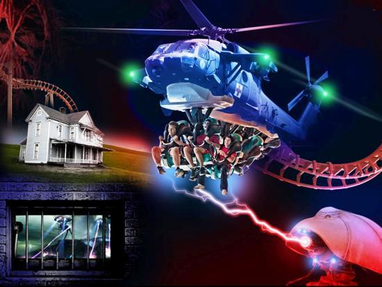 Ontwerp voor MP Xpress in Movie Park Germany door Peter van Holsteijn