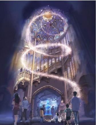 Het Enchanted Storybook Castle in Disneyland Shanghai - Artist impression: (c) Disney