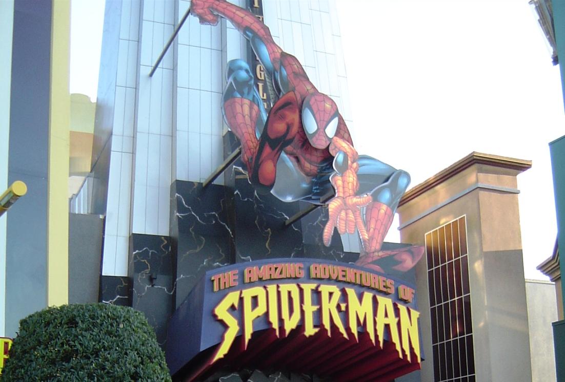 IOA Spider Man sign 08PP