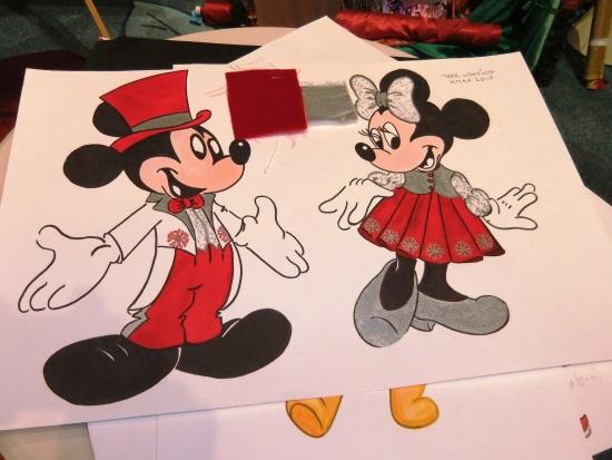 Kledingschetsen voor Mickey en Minnie in Disneyland Paris