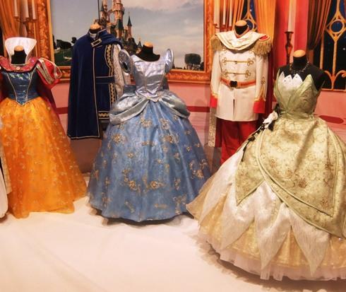 De prinsessenjurken in Disneyland Paris hebben zilverkleurige bloemen