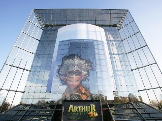 Het gebouw van Arthur l'Aventure 4D in Futuropscope
