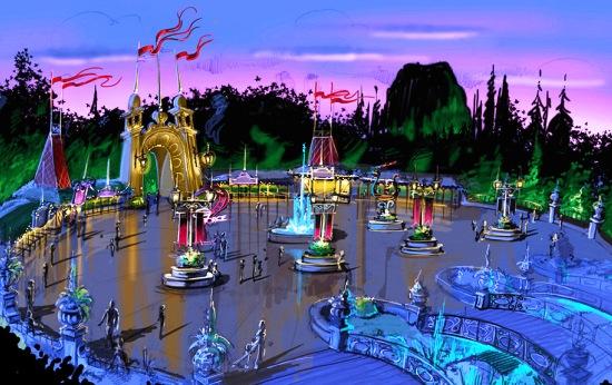 Impressie van de nieuwe ingang van Holiday Park