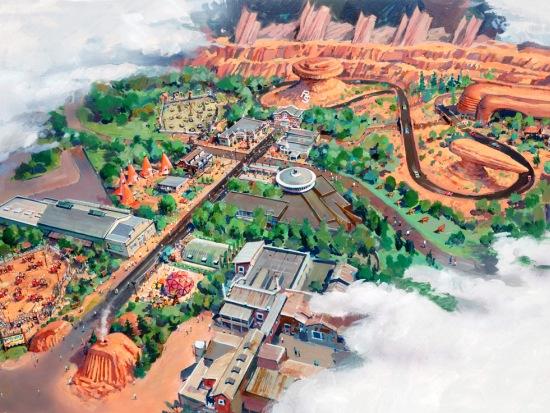 Cars Land in California Adventure - Artist impression: (c) Disney