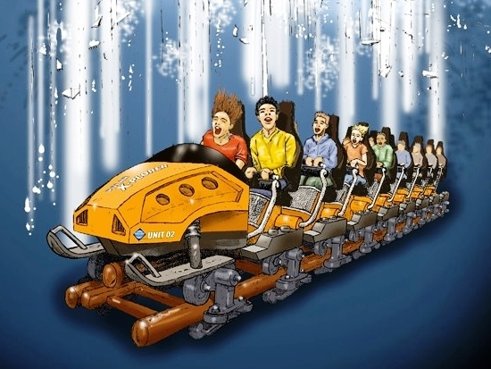 De trein van Polar X-plorer in Legoland Denemarken