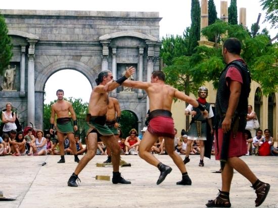 Romeinse gladiatoren in Terra Mítica