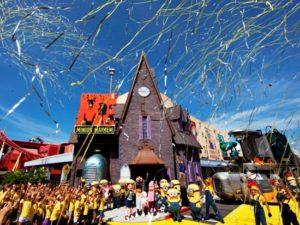 De feestelijke opening van Despicable Me in Universal Studios Florida