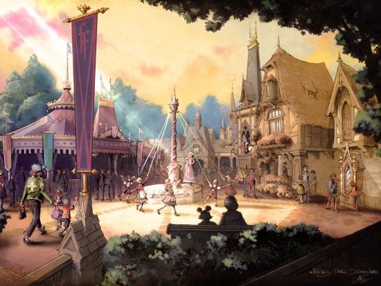 Ontwerp van Fantasy Faire door Michel den Dulk - Artwork: (c) Disney