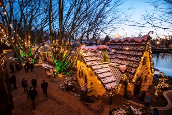 Sprookjesbos van Europa-Park in de winter