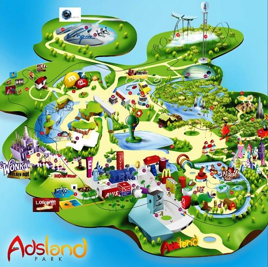 De plattegrond van Adsland