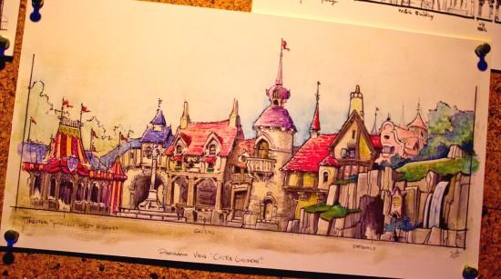 Studietekening van Michel den Dulk voor Fantasy Faire - Foto: Micechat.com