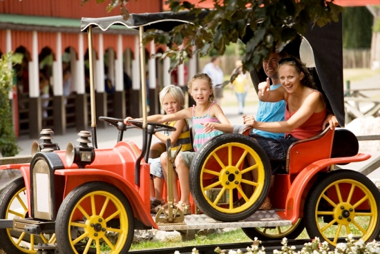In de oldtimerbaan van Attractiepark Slagharen